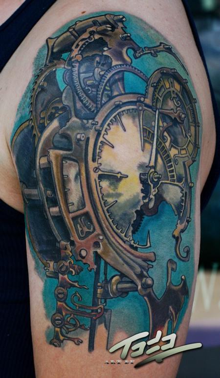 Freitas Steampunk Clock By Todo Abt Tattoo